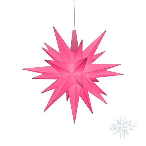Herrnhuter Stern rosa ca. 13 cm - Sonderedition 2021 - LED