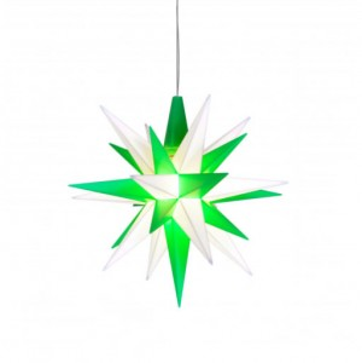 Herrnhuter Stern A1e grün-weiss ca. 13 cm - LED